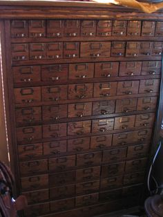Or this...  Antique Nuts Bolts Hardware Apothecary Cabinet 70 Drawer oak