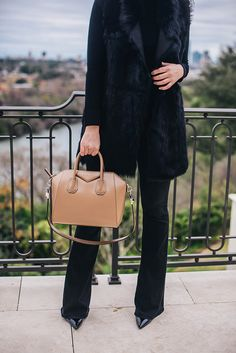 downtown - The Style Scribe Givenchy Antigona, Shearling Vest, Fall 14, Scribe, Clothes Horse, Cloth Bags, Black Belt, Signature Style, Neiman Marcus