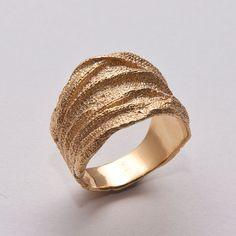 Golden Rag No.3  14k Gold Ring  Wedding Ring  от doronmerav
