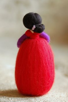 Delicate wool doll unique tale, made entirely by hand with love and care in accordance with the principles of Waldorf pedagogy.  Inspired by