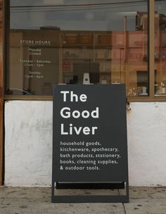 The Good Liver #aboard #blackboard