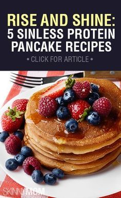 Here are some insanely sinless and mouth-watering protein pancake recipes that you and your family can enjoy. #eatclean #pancakes
