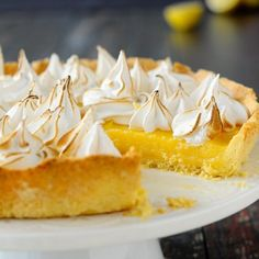 This lemon and meringue tart is so delicious and refreshing. (in Polish with translator)