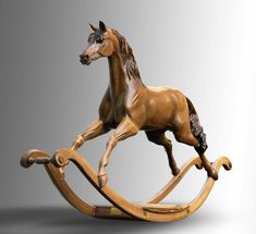 Silver Jubilee Mahogany Horse Sculpture Enlarged