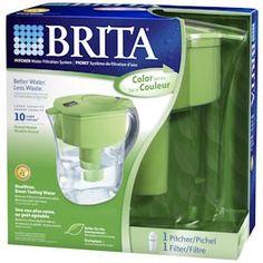 Brita Grand Water Filter Pitcher - Green by FiltersFast.com