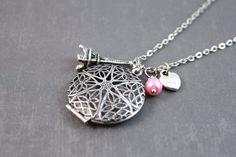 Diffuser+Necklace++Essential+Oil+Locket++Locket+by+clayware