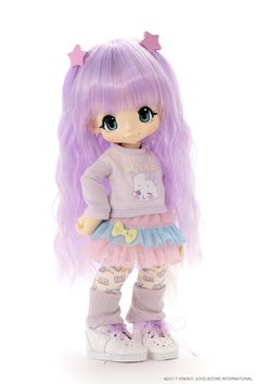 The KIKIPOP! is coming your way May Visit here to learn more about Azone International's bubbly duo Soda Blue and Grape Squash. Pretty Dolls, Beautiful Dolls, Pop Dolls, Baby Dolls, Anime Girl Drawings, Smart Doll, Cute Toys, Anime Figures, Doll Accessories
