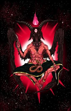 Baphomet by Sakitaro on DeviantArt Baphomet, Satanic Art, Esoteric Art, Stoner Art, Arte Obscura, Demon Art, Scary Art, Occult Art, Dark Lord