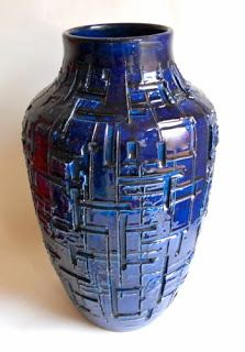 Anonymous; Large Glazed Ceramic Vase by Bitossi, 1960s.