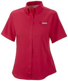 df8c6e56 Columbia Womens Tamiami II Short Sleeve Shirt in Bright Rose -- It's peak  fishing season