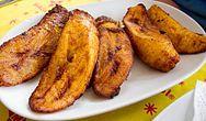 Ghanaian cuisine: Ghanaian style Fried Plantain, in Ghana.