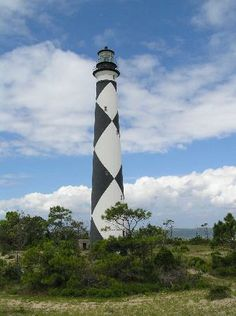Look familiar?   =)  Cape Lookout Lighthouse, Beaufort, NC   est. 1812