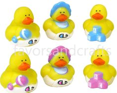 100 Rubber Ducks Pink Blue Baby Shower Favors Yellow Bath Duckies Ducky Lot   eBay
