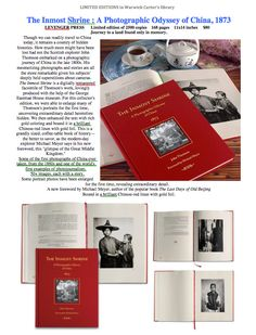 The Inmost Shrine : A Photographic Odyssey of China, 1873 - LEVENGER PRESS China Today, China Travel, Books, Beautiful, Libros, Book, Book Illustrations, Libri
