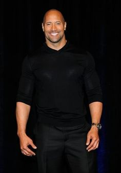 "My favorite pic of Dwayne Johnson. He's one of few celebrities who pass my ""accountant"" test, as in, would you still think this guy was sexy if he was just your accountant? Hell Yeah!  Because in this pic especially, he doesn't look like a movie star as much as just a great looking guy you could meet anywhere."