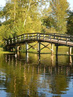 The Board walk at Mill Lake, Abbotsford, BC, Canada