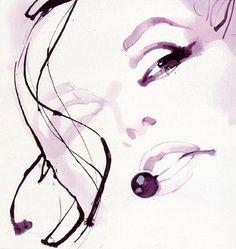 David Downton Illustration  #fashion #illustration #daviddownton