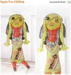 SPRING Into Easter Sale Corpse Bride VooDoo by FosterChildWhimsy