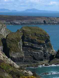 View from South Stack towards Snowdonia Mountain Range.