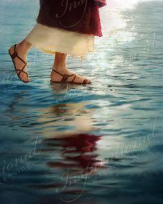 christ walking on water painting | Walking-On-Water-©2011-Jay-Bryant-Ward.jpg