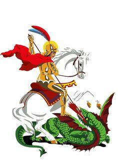 São Jorge e o Dragão Scouts, Saint George And The Dragon, Bowser, Pop Art, Lps, Disney Characters, Fictional Characters, Faith, Georgia