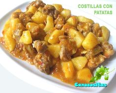 Estofado de costillas con patatas - thermomix