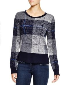 rag & bone/JEAN Tegan Crewneck Plaid Sweater - 100% Bloomingdale's Exclusive | Bloomingdale's