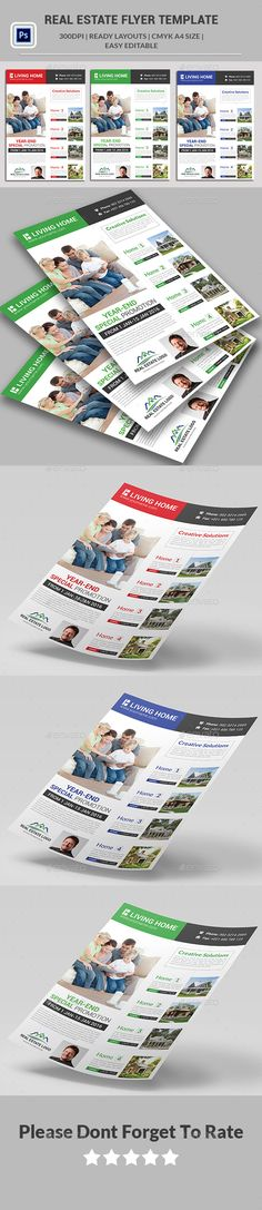 #Real #Estate #Flyer Templates  - Corporate Flyers Download here: https://graphicriver.net/item/real-estate-flyer-templates-/14170269?ref=alena994