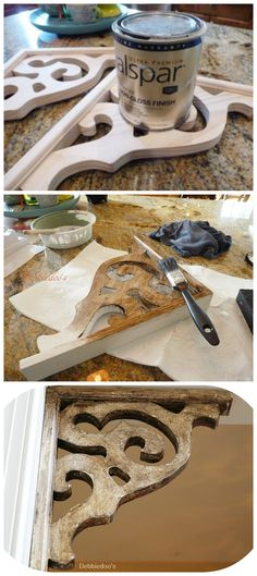 How to age and #distress #naturalwood. Easy technique and looks like the real deal!
