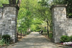 State College, PA by David Watson, via Flickr #psu #pennstate  #MyHometownPins Gates to the Penn State University campus.