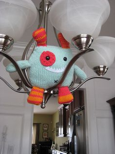 """Knitted monster by Mallory Marks, from our """"Big Book of Knitted Monsters"""" Flickr contest.    http://www.flickr.com/photos/martingaleandcompany/sets/72157625943505527/with/5450969439/"""