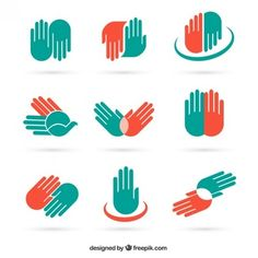 Hand icons and symbols Free Vector Vector Hand, Vector Free, Help Logo, Hands Icon, Hand Images, Motion Graphics, Symbols, Logos, Icons