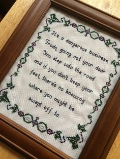 PATTERN Hobbit Lord of the Rings Cross Stitch by stephXstitch