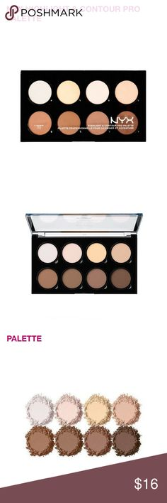 NYX Highlight and Contour Pro Palette!  NWT highlight and contour pro palette by NYX. Comes with removable pans for whenever you want to take them out and switch them around  or place them in a z palette. Brand new, never opened or used.  NYX Makeup