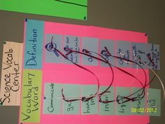 Vocabulary Matching Center. I did one for Reading, Math and Science. This is what the Science looks like matched.
