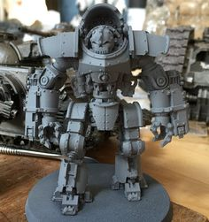 Page 10 of 12 - Officia Monstrosa – Iron Warriors - posted in +  AGE OF DARKNESS +: The move went very, thanks. All settled in, and even have my hobby space set up now. As a result, heres some stuff! First off, a WIPErasmus Golg(and a Legionary for scale) who is serving as a test piece for Cataphractii armour:     Quite a bit to do, but Im happy with how hes coming along.  Secondly (and with a rather better crop), I was the happy recipient of this chap, from m...