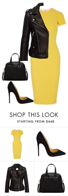 Untitled #428 by samson-90 on Polyvore featuring Victoria Beckham, Christian Louboutin, Furla, women's clothing, women, female, woman, misses and juniors
