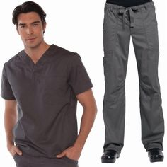 Looking for men's scrub tops and men's scrub trousers? Why not try the Happythreads Koi Jason scrub top and Koi James scrub trousers set. This scrub suit is made of cotton and polyester twill. Dental Scrubs, Women's Henley, Medical Uniforms, Uniform Design, Henleys, Just For Men, Man Set, Scrub Pants, Basic Tops
