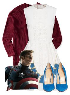 """""""Captain America inspired: Formal"""" by tardis-221b ❤ liked on Polyvore"""