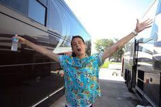Baby in a Hawaiian shirt