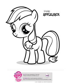 My Little Pony party - 4 printable pony coloring pages