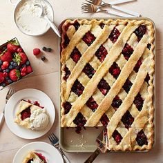 Mixed Berry Sheet Pan Pie from Land O'Lakes