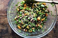 Roasted Sweet Potato and Black Bean Salad with Chile Dressing  Recipe on Food52 recipe on Food52