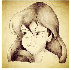 Drawing of the Little Mermaid.