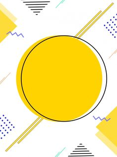 Creative minimalist yellow round memphis background More than 3 million PNG and graphics resource at Pngtree. Poster Background Design, Powerpoint Background Design, Geometric Background, Yellow Background, Background Templates, Background Images, Logo Background, Bellet Journal, Conception Web