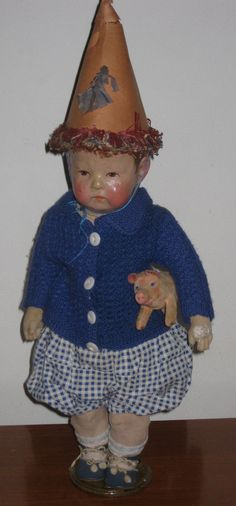 Kathe Kruse Doll with pig