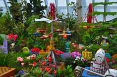 Playland at the Conservatory of Flowers Golden Gate Park, Conservatory, Wind Chimes, Nativity, San Francisco, Outdoor Decor, Flowers, Plants, City