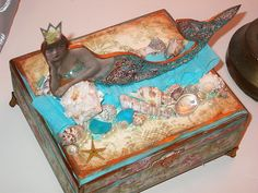 Bejeweled Mermaid Box by rachelchristydesigns, via Flickr