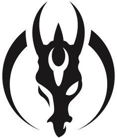Symbol of Atarka Tattoo Sketches, Art Sketches, Seal Tattoo, Cool Symbols, Doodle Drawing, Mandalorian Armor, Desenho Tattoo, Crests, Art Logo