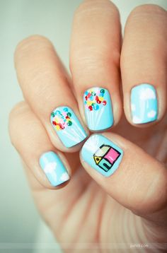 """Up"" nails!! So cute."